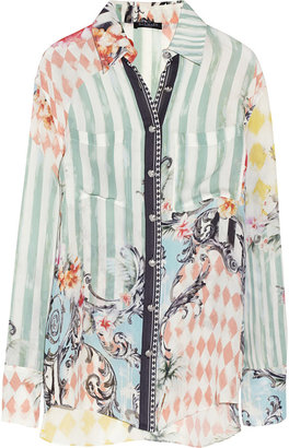 Balmain Printed silk shirt