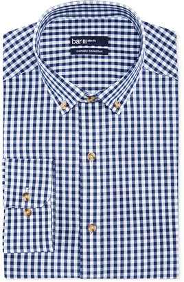 Bar Iii Carnaby Collection Slim-Fit Navy and White Gingham Dress Shirt $65 thestylecure.com