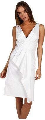 Rachel Roy Stretch Cotton Wrap Drape Dress (Natural White) - Apparel