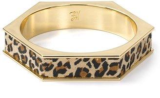 Belle Noel by Kim Kardashian 14kt Plated Leopard Hexagon Bangle