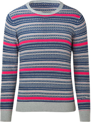 Marc by Marc Jacobs Fiery Fuchsia Multi Cotton Hugh Pullover