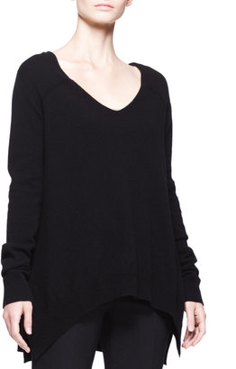 The Row Cashmere V-Neck Trapeze Sweater
