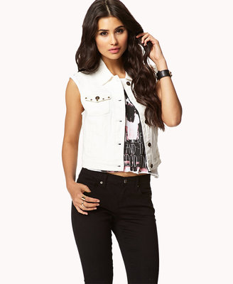 Forever 21 Studded Denim Vest