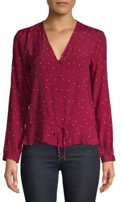Rails Printed Long-Sleeve Blouse