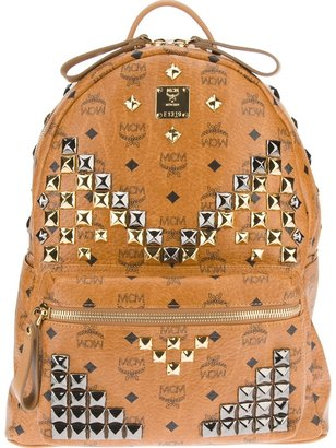 MCM studded backpack