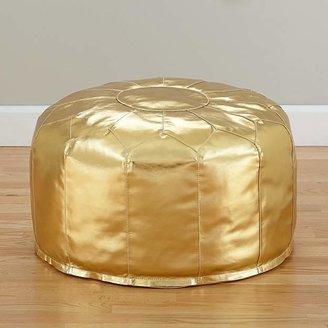 Faux Leather Gold Pouf $89 thestylecure.com