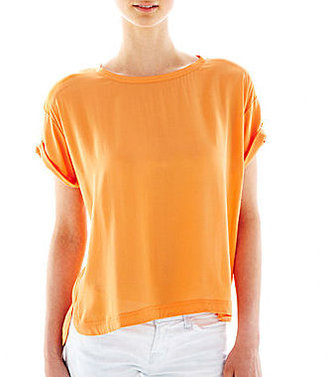 MNG by Mango Mixed-Fabric Top