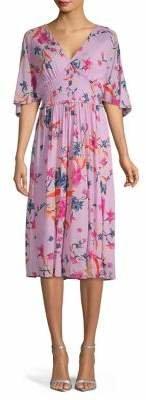 Diane von Furstenberg Floral-Print Midi Dress
