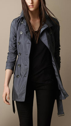 Burberry Gathered Waist Trench Coat