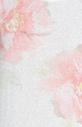 Chloe K Floral Print French Terry Sweatshirt (Juniors)