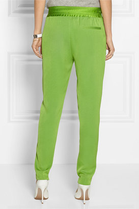 3.1 Phillip Lim Satin-trimmed crepe tapered pants