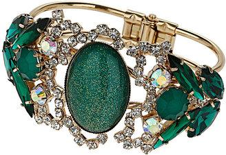 Topshop Premium Rhinestone Cluster Bracelet