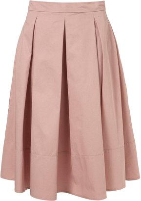 Topshop Pale Pink Pleated Midi Skirt