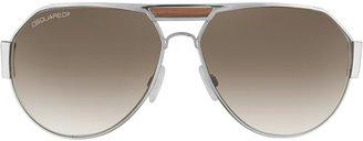 DSQUARED2 Signature Metal Aviator Sunglasses