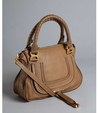 Chloé nut brown leather 'Marcie' convertible tote