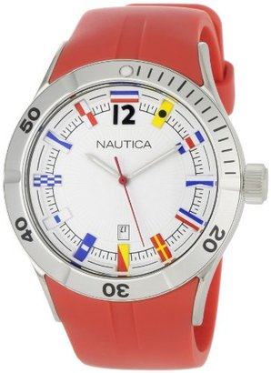 Nautica Men's N13526G NSR Date Flag Sporty Red Resin Strap Watch