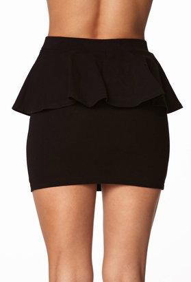 Forever 21 Basic Peplum Mini Skirt