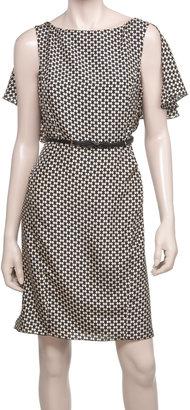 Max Studio Printed Silk Dress