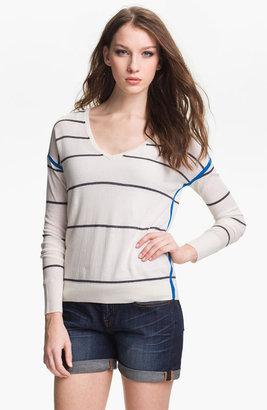 Caslon Stripe V-Neck Sweater
