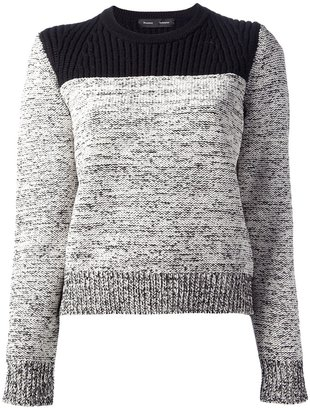 Proenza Schouler contrast knit sweater