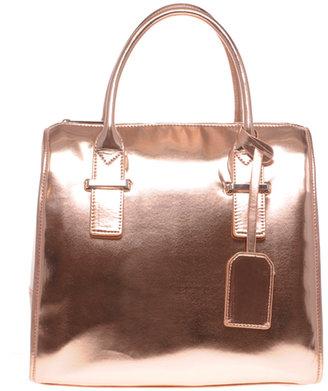 Asos Metallic Oversized Bowler Bag