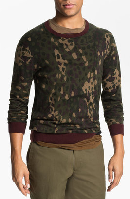 Marc by Marc Jacobs Camouflage Crewneck Sweater Deep Brown Multi X-Large