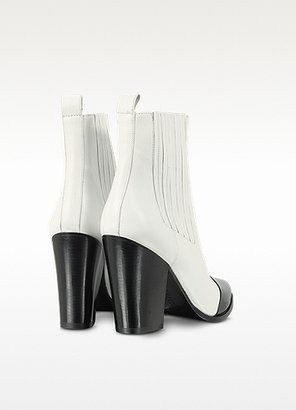 Kenzo Color Block Leather Ankle Boot