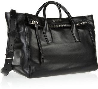 Miu Miu Leather trapeze bag