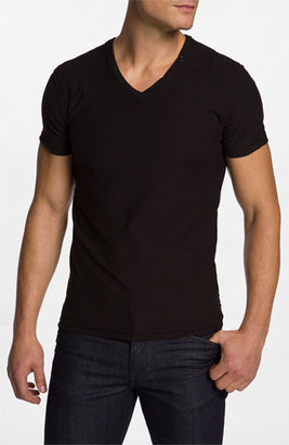 Diesel 'TOS' Extra Trim Fit V-Neck Slub T-Shirt