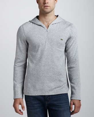 Lacoste Double-Face Zip Hoodie, Gray