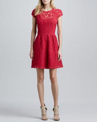 Dolce Vita Winsor Cap-Sleeve Lace Dress