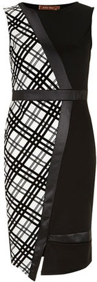 Dorothy Perkins Jolie Moi Black white asymmetric dress