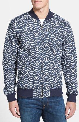 Obey 'Trippin' Print Jersey Bomber Jacket