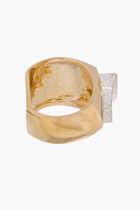 Chloé Gold Resin Transparent Geometric Bettina cuff