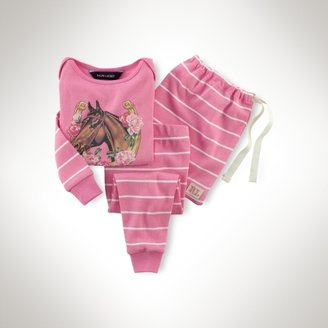 Equestrian Cotton Pajama Set
