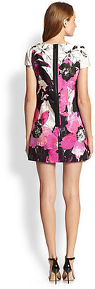 Milly Chloé Winter Orchid Printed Dress