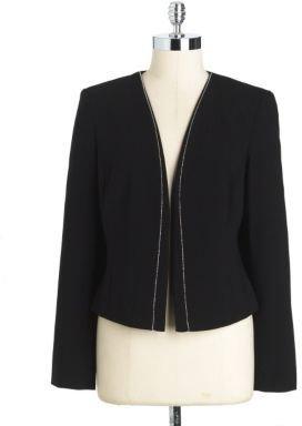 Calvin Klein Embellished Open-Front Jacket