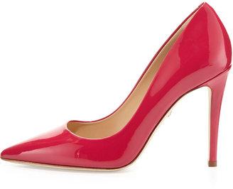 Diane von Furstenberg Bethany Point-Toe Patent Pump, Raspberry