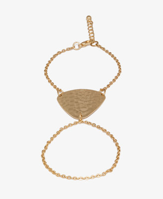 Forever 21 Dimpled Triangle Hand Chain