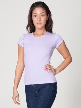 American Apparel Baby Rib Cap Sleeve T-Shirt