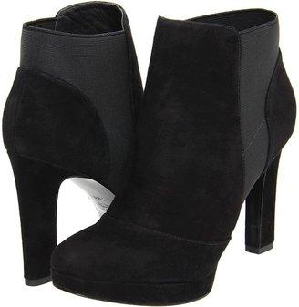 Via Spiga Tocarra (Black Kid Suede/Black Elastic) - Footwear