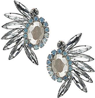 Topshop Crystal Rhinestone Spray Earrings