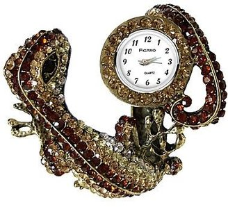 JCPenney Brown Crystal Lizard Bangle Watch