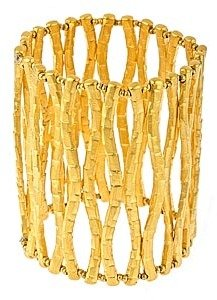 Style Naturale Gold Branch Stretch Cuff