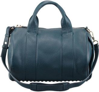 Alexander Wang Rocco Stud-Bottom Satchel Bag, Dark Argon