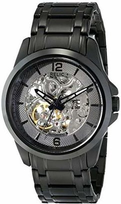 Fossil Relic by Men's Cameron Automatic Self-Winding Stainless Steel IP Skeleton Dial Watch
