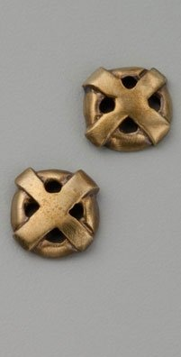 Elizabeth and James Plus Circle Cross Studs