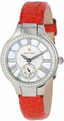 Philip Stein Teslar Women's 44D-CMOP-CGRR Stainless Steel Diamond-Accented Watch with Leather Band