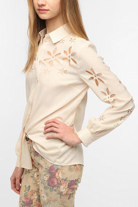 Urban Outfitters Pins And Needles Lasercut Blouse