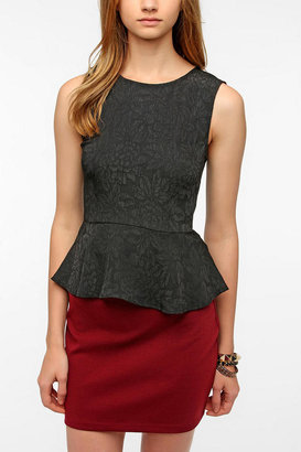 Urban Outfitters Pins and Needles Jacquard Peplum Tank Top